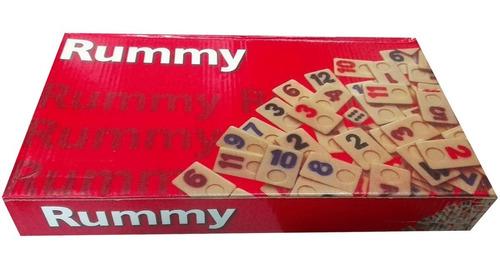 juego de mesa: rummi números niños juguetes ref mr-728 rojo