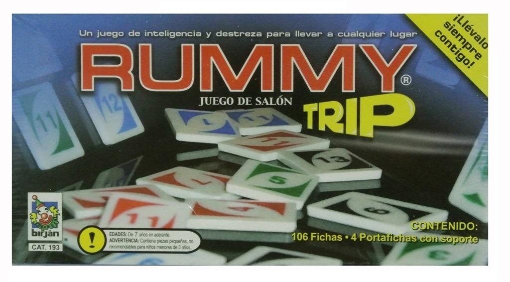 Juego De Mesa Rummy Trip De Viaje 350 00 En Mercado Libre