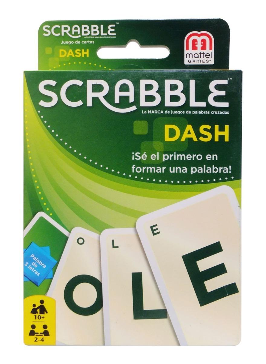 Juego De Mesa Scrabble Dash Cartas Mattel 10 Anos 105 Carta