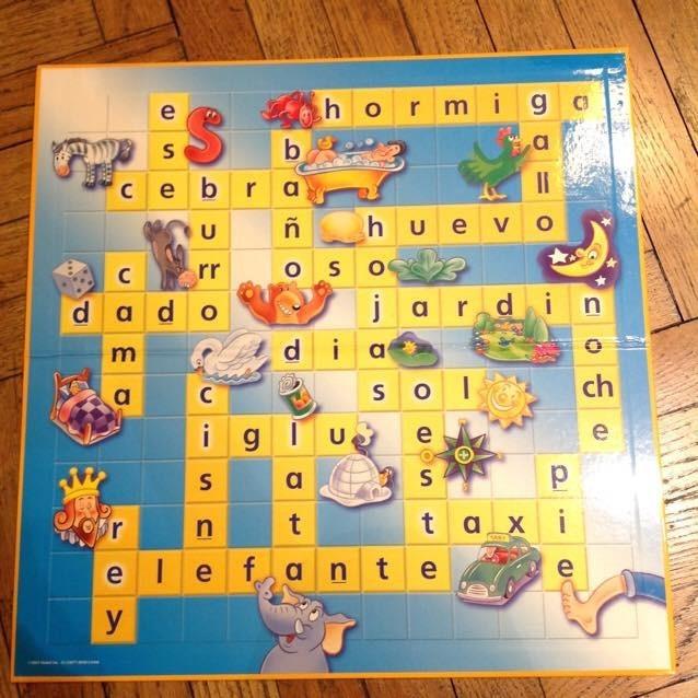 Juego De Mesa Scrabble Junior Palabras Cruzadas 2 Niveles 500