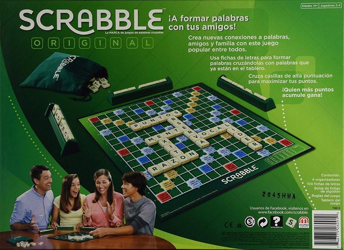 Juego De Mesa Scrabble Original Mattel Palabras Cruzadas 439 00