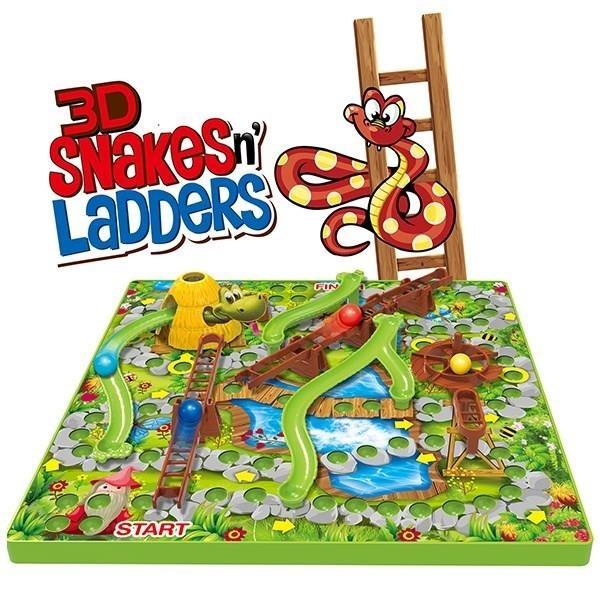 Juego De Mesa Serpientes Escaleras 3d Divertido Familiar 229 00