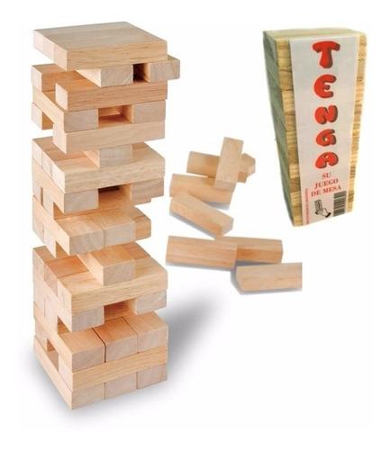 juego de mesa tenga simil jenga madera en planeta juguete