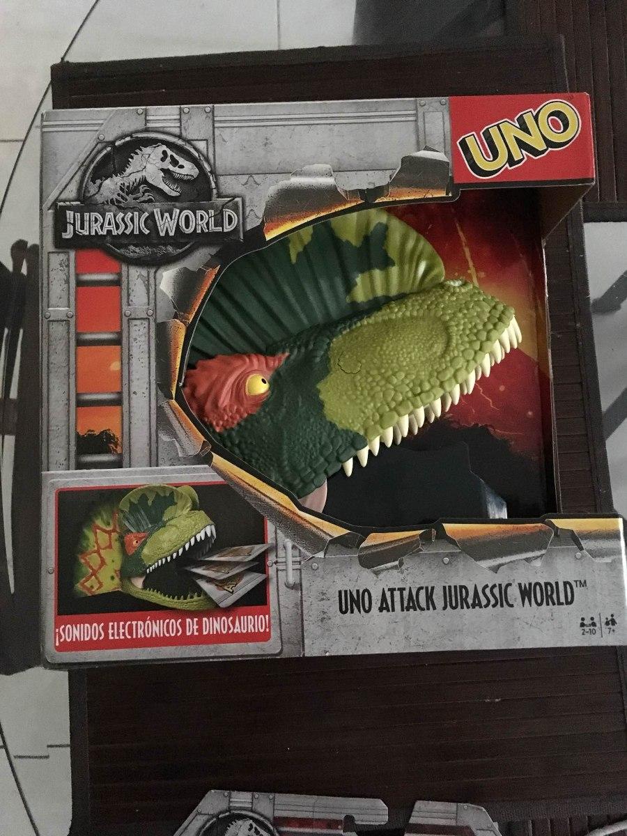 Juego De Mesa Uno Attack Jurassic World 500 00 En Mercado Libre