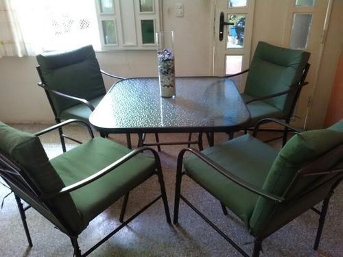 juego de mesa y 4 sillas para jardin