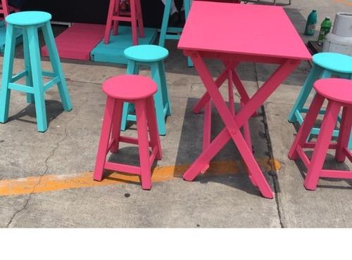 Juego de mesa y bancos estilo vintage ideal jardin o - Bancos estilo vintage ...
