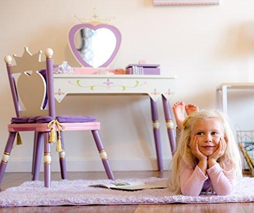 juego de mesa y silla de princesa vanity