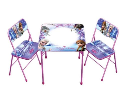 juego de mesa y sillas disney set frozen
