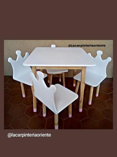 juego de mesa y sillas para niños y niñas