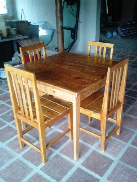 Juego de mesa y sillas para restaurante nuevos listos bs for Sillas para restaurante