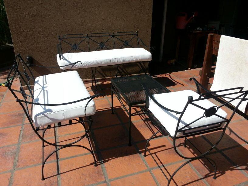 juego de mesa y sillones de jardin en hierro oferta