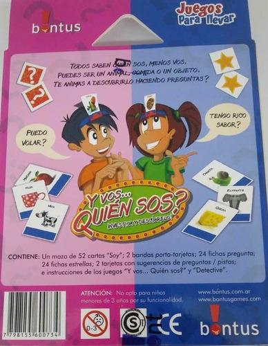 juego de mesa y vos quien sos? de bontus july toys
