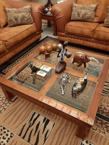 juego de mesas de caoba