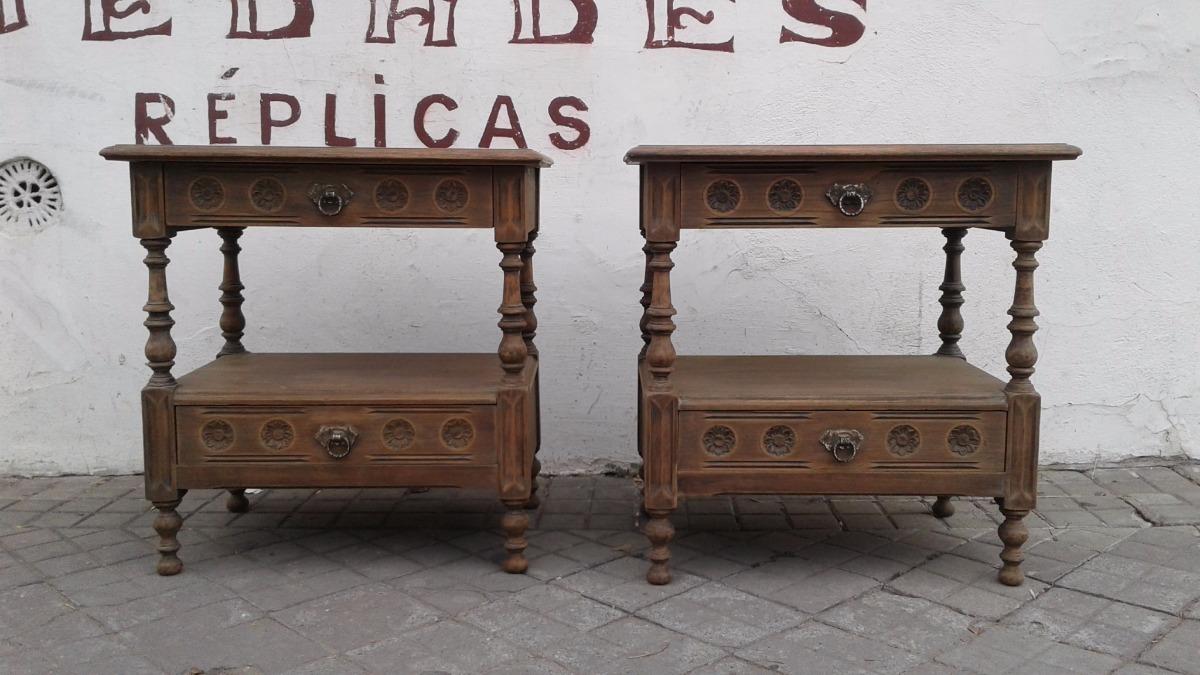 Juego De Mesas De Luz Inglesas Cedro O Nogal 3900 El Par  # Muebles Cedro Y Nogal