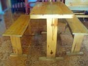 juego de mesas de madera para restaurante (8)