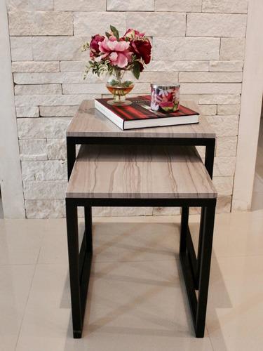 juego de mesas marmol y herreria