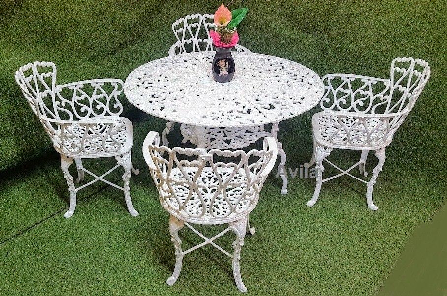 Juego de mesas y sillas para jardin de aluminio 6 500 for Ofertas en mesas y sillas