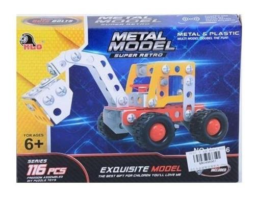 juego de metálico 116pcs pala excavadora