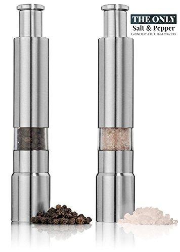 juego de molinillo de sal y pimienta. sal de acero inoxidab