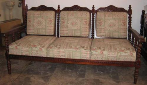 Juego de mueble colonial en madera tallada bs - Muebles tipo colonial ...