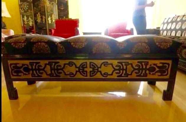 juego de mueble japons ottoman puff y mesa decoracion hogar