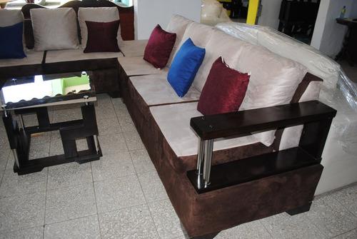 juego de mueble l moderno en roble