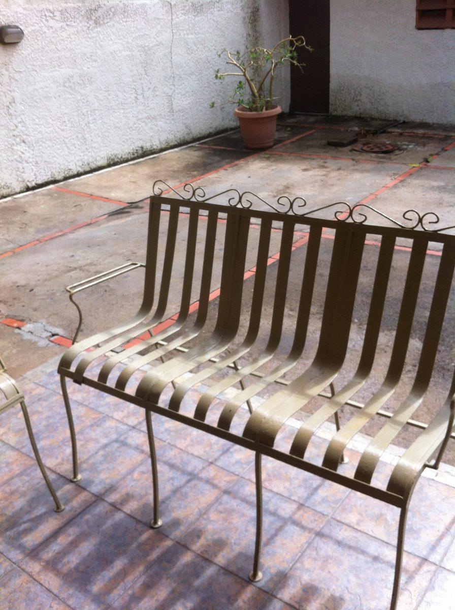 Juego de mueble para jardin o exterior de hierro bs 1 for Sofa exterior hierro