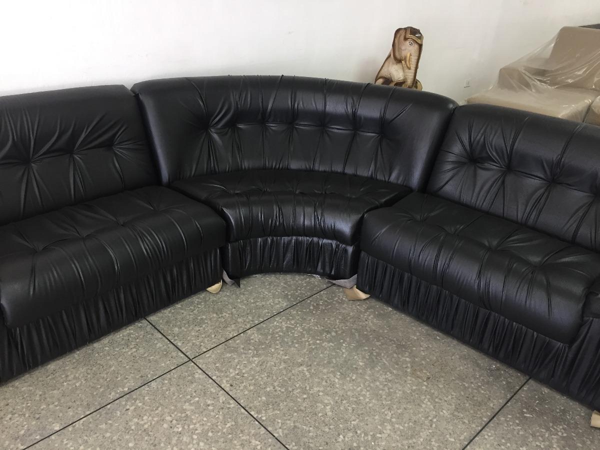Juego De Mueble Semi-cuero Negro Y Beige - Bs. 190.900,00 en Mercado ...