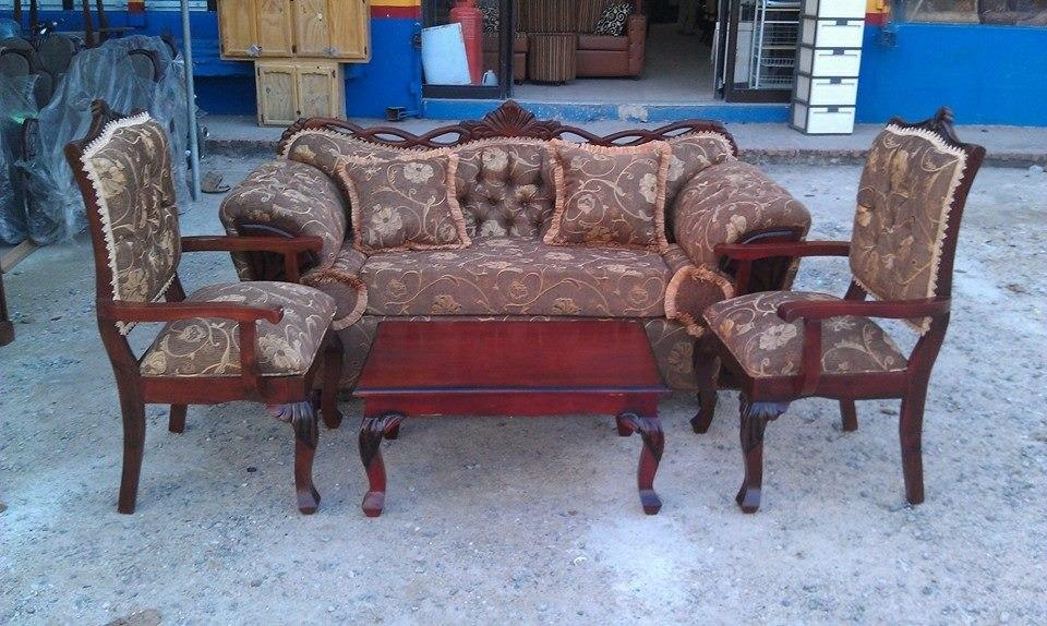 Juego de muebles 3 1 1 en andiroba en mercado libre - Juegos de muebles ...