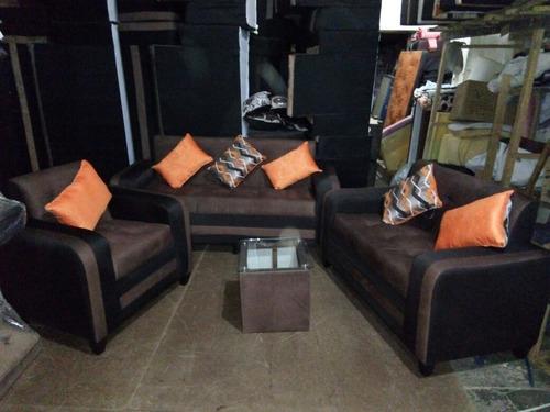 juego de muebles + 6 cojines california em velmex con yacard