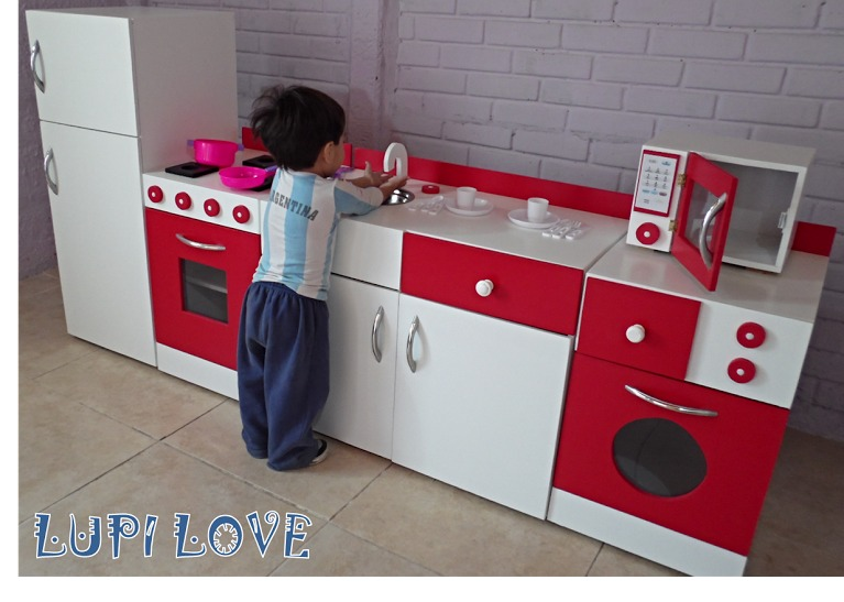 Juego De Muebles Cocina Infantil Juguete En Madera Casita - $ 9.000 ...