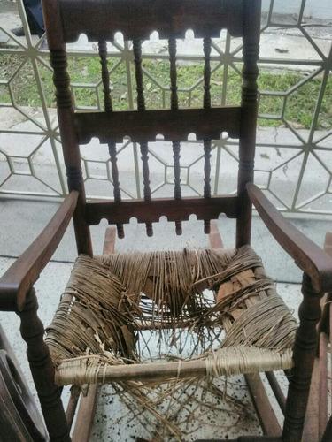 juego de muebles de esterillaspara reparar