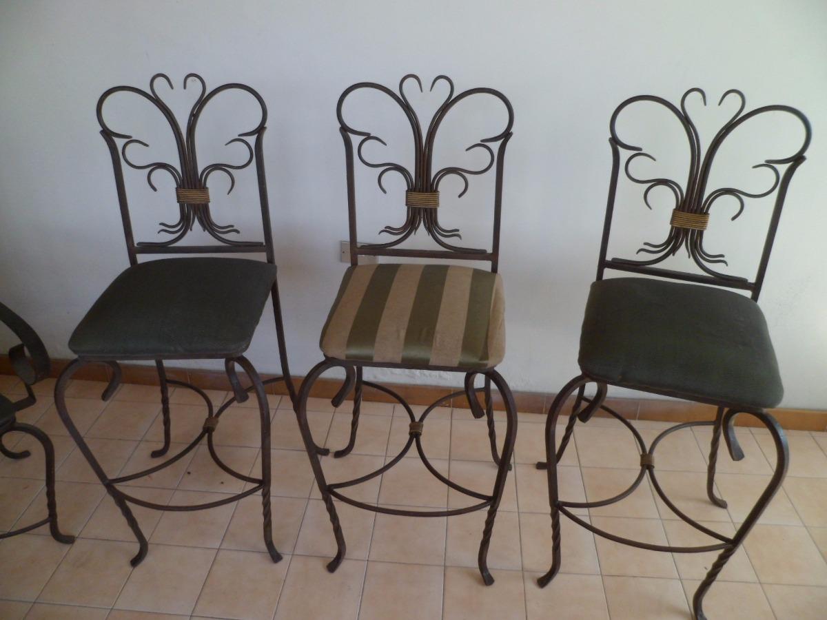 Juego de muebles de hierro forjado bs en for Muebles de fierro forjado