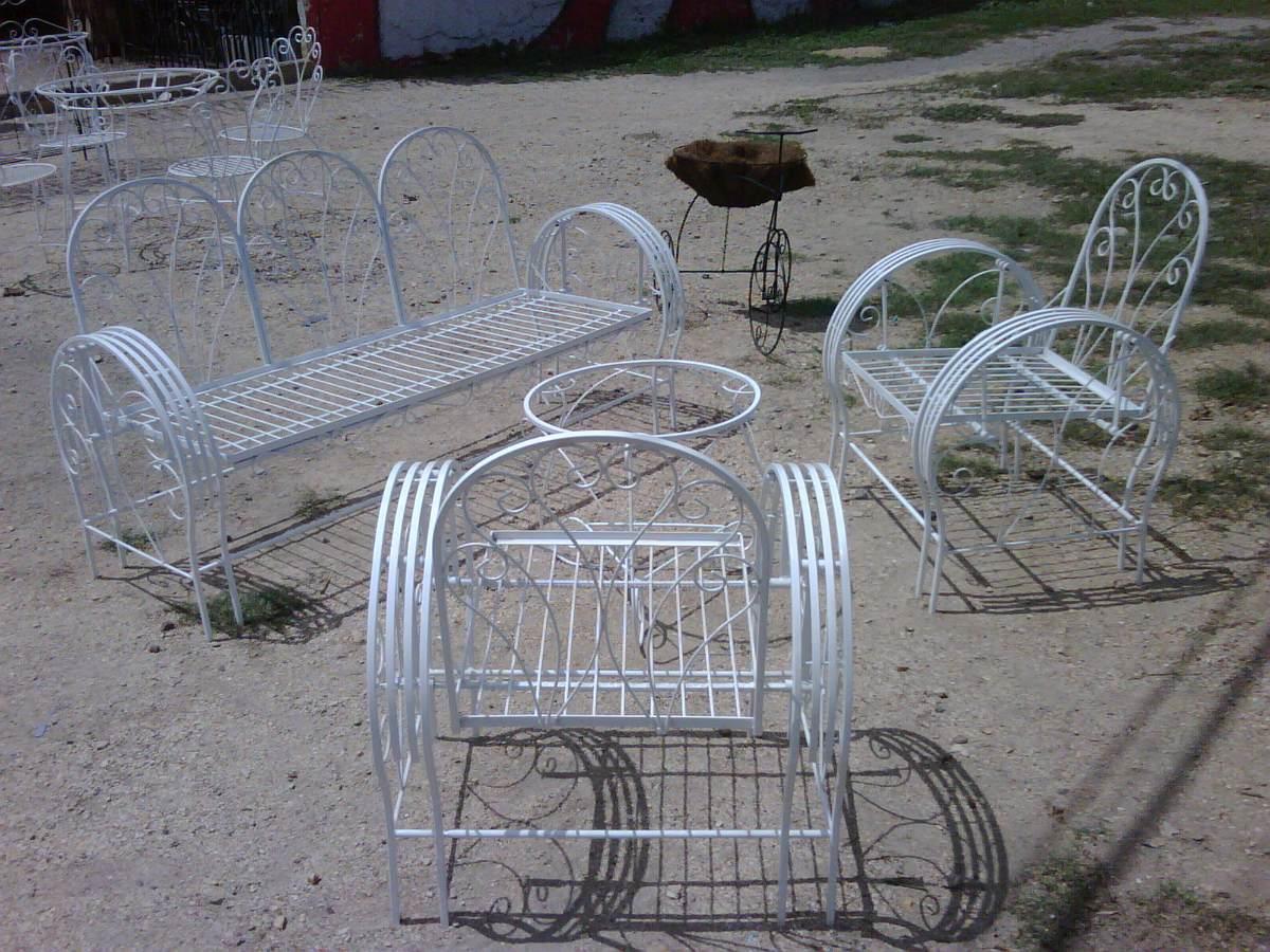 Juego de muebles de hierro forjado los que se balancean - Muebles de hierro forjado para jardin ...