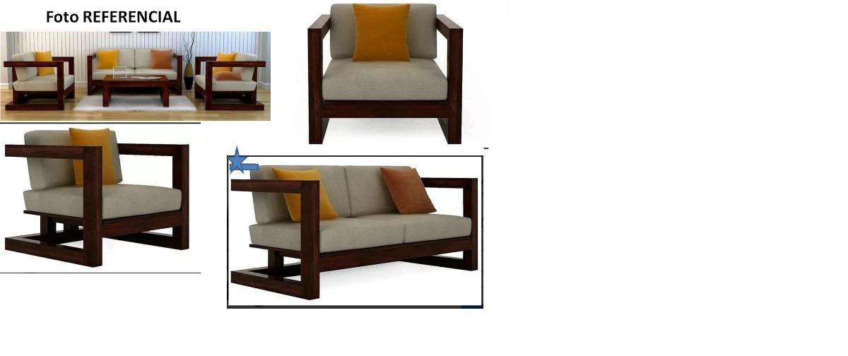 Juego de muebles de madera modernos sin cojines bs 5 - Muebles de madera modernos ...
