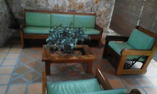 juego de muebles de madera perfecto estado