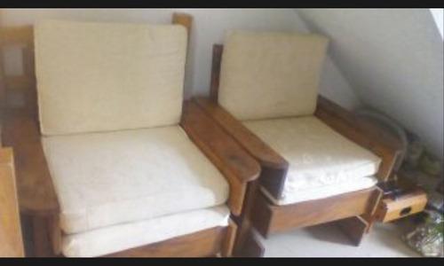 juego de muebles de madera rustica