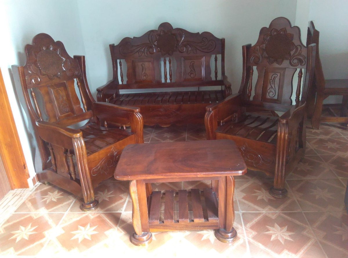 Juego De Muebles De Saman Tallado De Girasol Bs 85 000 00 En  # Muebles Tallados En Madera