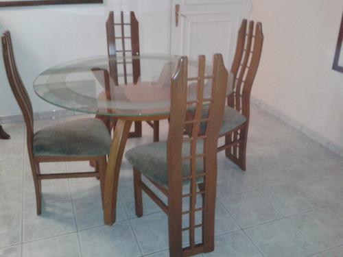juego de muebles de tres y dos puestos mas juego de comedor