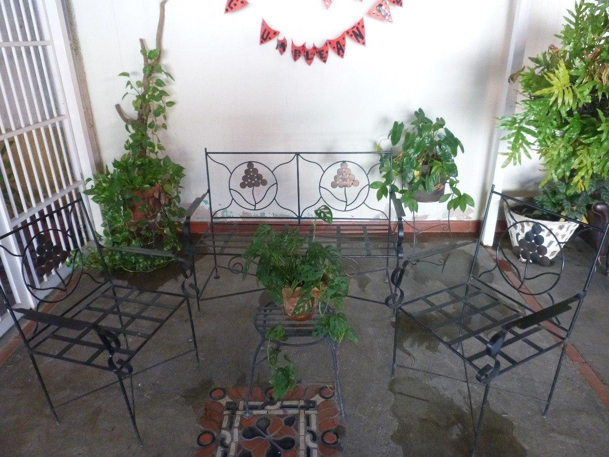 Juego De Muebles En Hierro Forjado - Bs. 160.000,00 en Mercado Libre