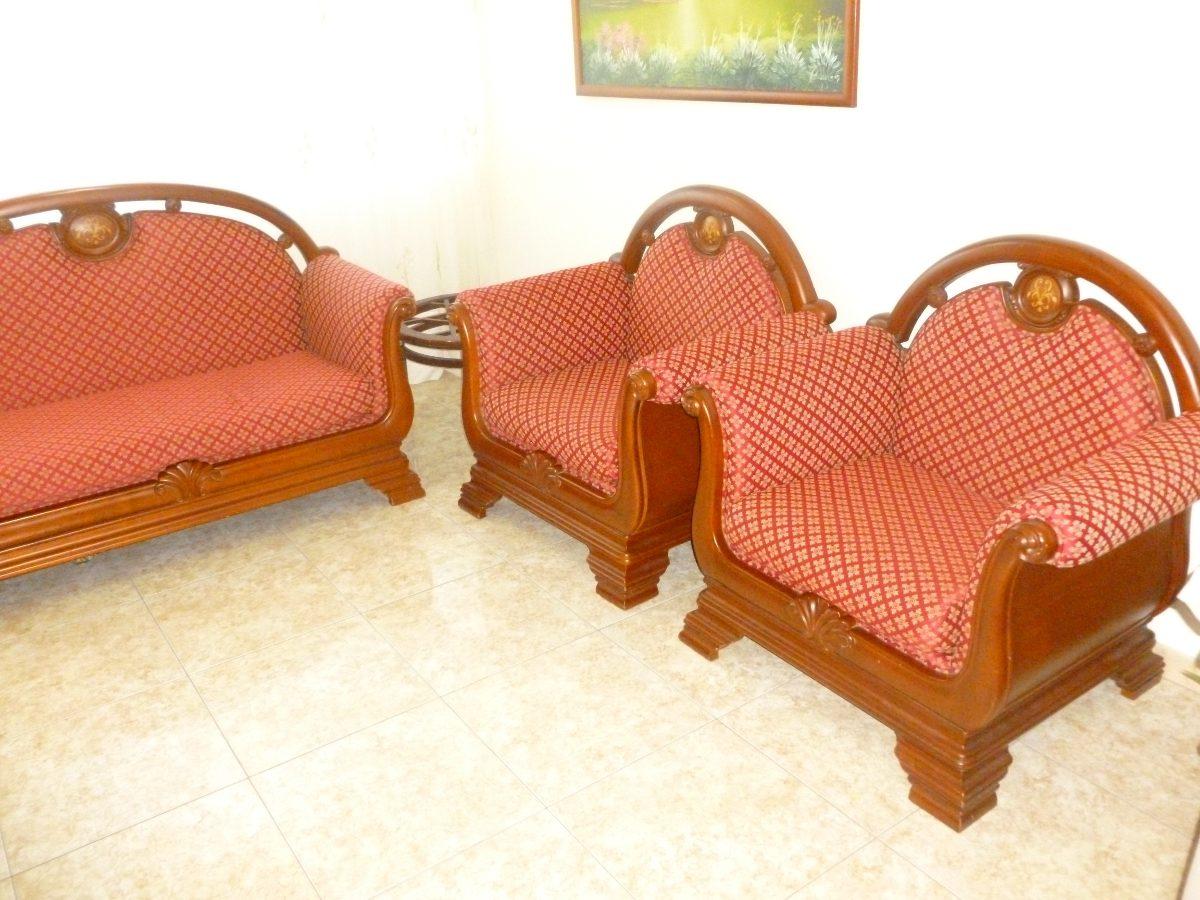 Juego de muebles en madera ceiba bs en for Muebles gratis