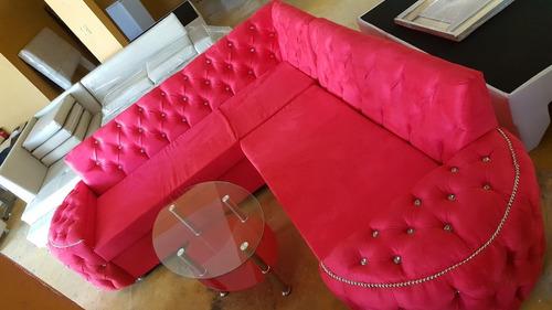 juego de muebles l tipo luna rojo rosa