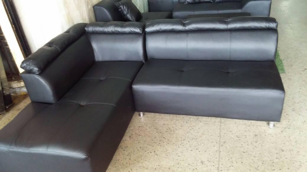 Contemporáneo Otomana De Almacenamiento Muebles De Cuero Negro ...