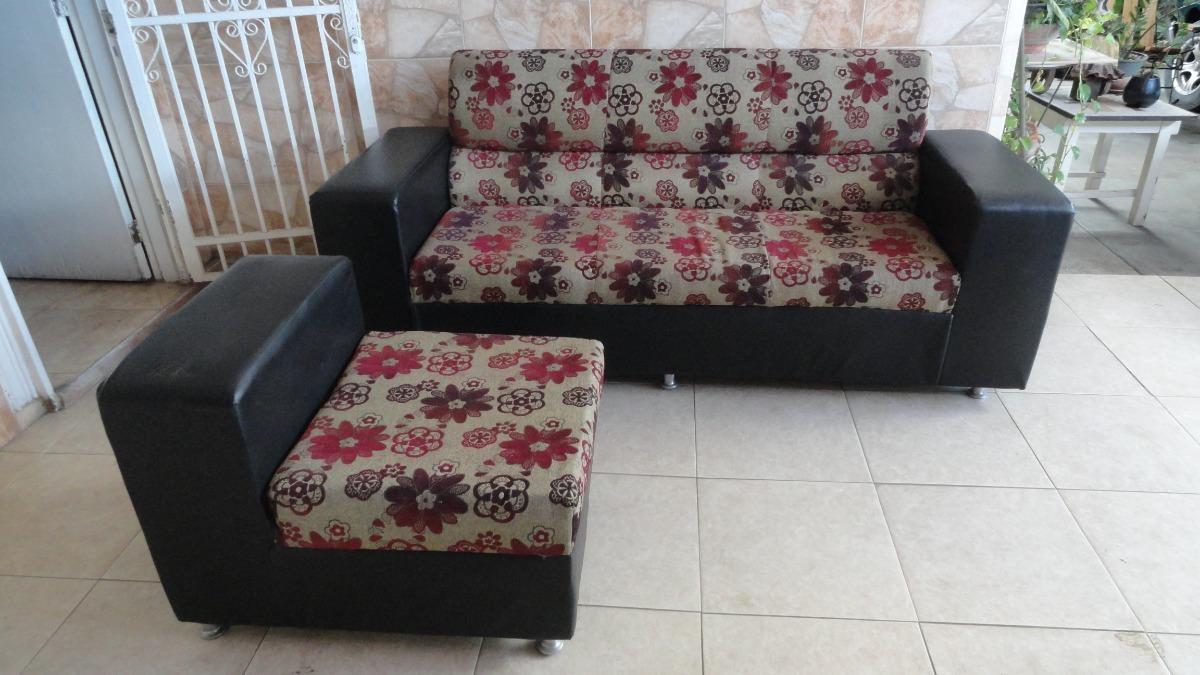 Juego de muebles para sala de tela y semi cuero bs 100 - Sofa para tres ...