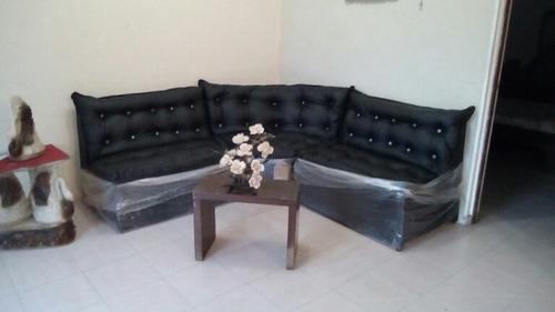 juego de muebles para sala en semi cuero