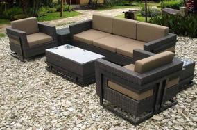 Juego De Muebles Para Terraza Y Exterior En Mimbre Sintético