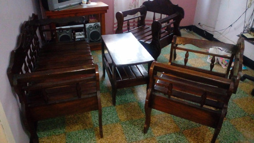 juego de muebles rustico con mesa