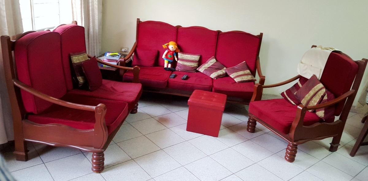 Juego de muebles sala madera cedro s en for Muebles de sala madera