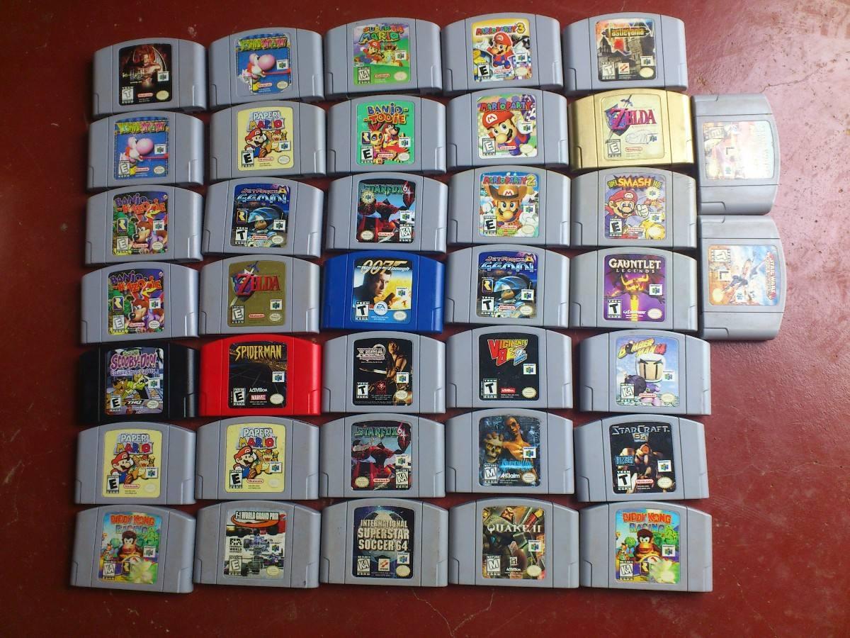 Juego De Nintendo 64 Coleccion Vendo Consola Memoria Varios