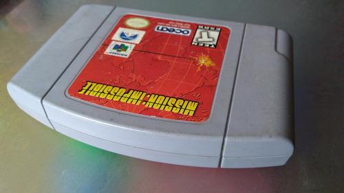 juego de nintendo 64,mission impossible.